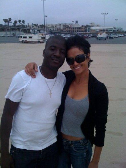 Me with Supermodel Michelle de leon @ the beach in Santa Monica