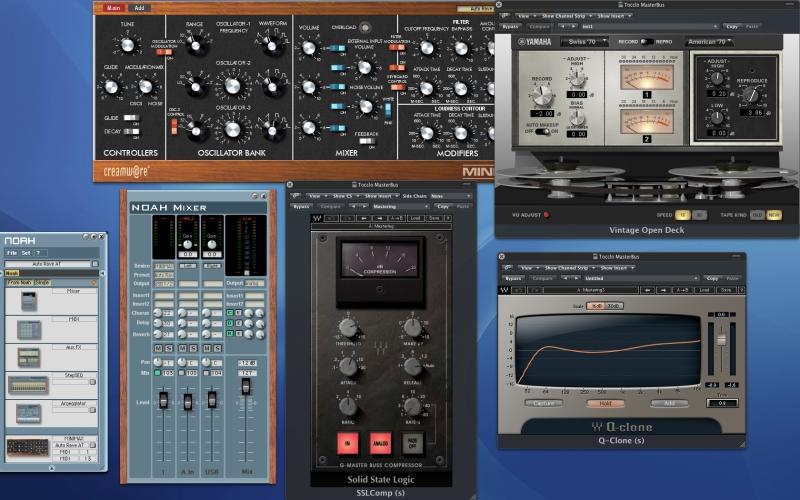 Waves Q clone mastering eq , Yamaha Vintage deck