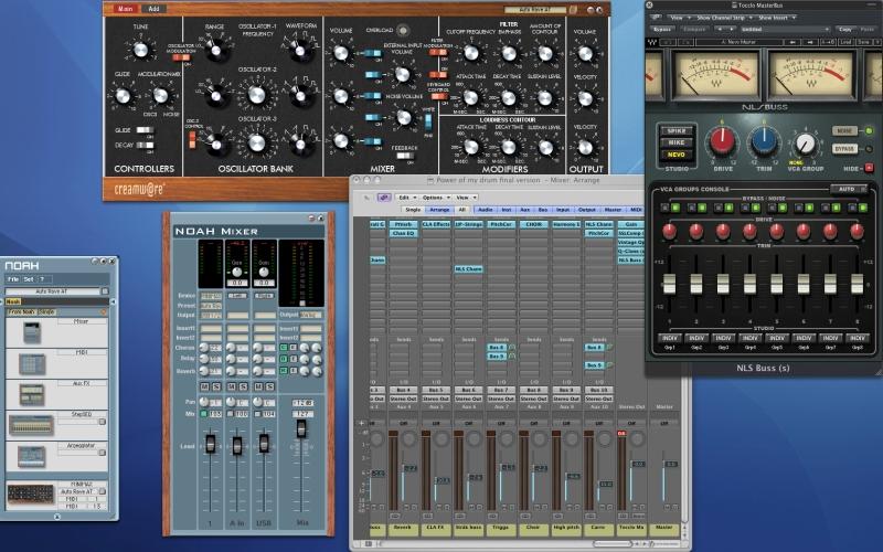 Creamware Noah , Creamware Minimax , Waves NLS , Logic pro 9